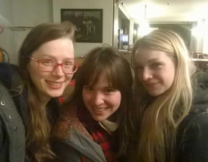 Die unschlagbaren Ladies of the Zwerch: Asja, Kate, Lea. <3