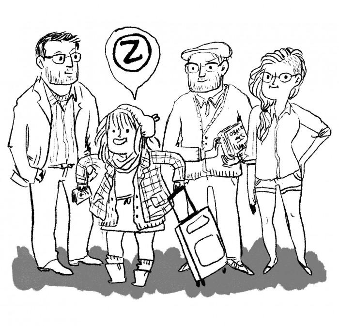 Kate und das Zwerchfell Team - gezeichnet von Kate Beaton
